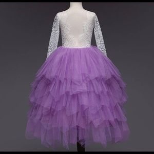 Dresses - 🎉🎉HOST PICK 7/4🎉🎉Purple/White Lace Tulle Dress